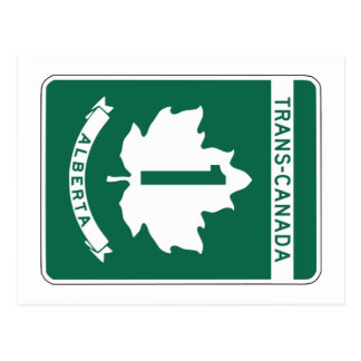 Alberta, Trans-Canada Highway Sign Postcard