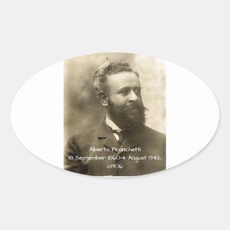 Alberto Franchetti c1906 Oval Sticker