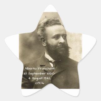 Alberto Franchetti c1906 Star Sticker