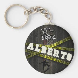 ALBERTO - Skater Style Key Ring