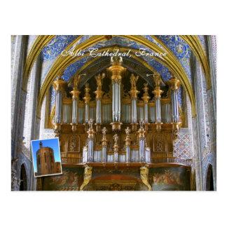 Albi Cathedral organ Postcard