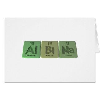 Albina as Aluminium Bismuth Sodium Cards