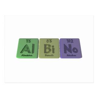 Albino-Al-Bi-No-Aluminium-Bismuth-Nobelium Postcards