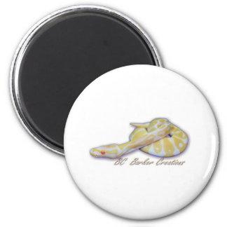 Albino Hatchling Ball Python Magnet