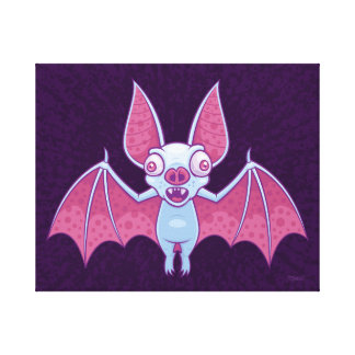 Albino Vampire Bat Canvas Print