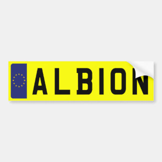 ALBION Number Plate Bumper Sticker