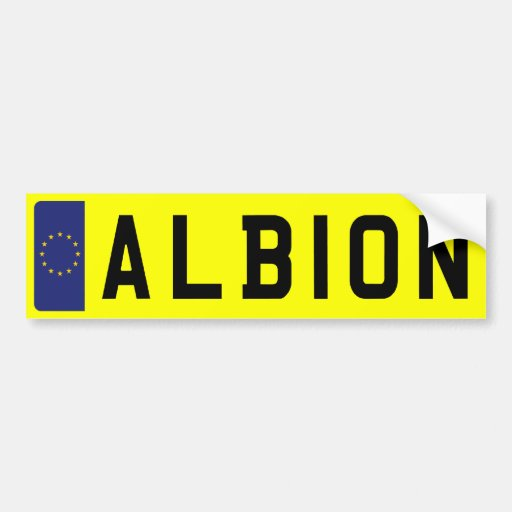 ALBION Number Plate Bumper Stickers