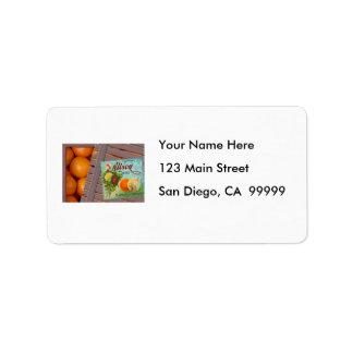 Albion Oranges Fruit Crate Label Address Label