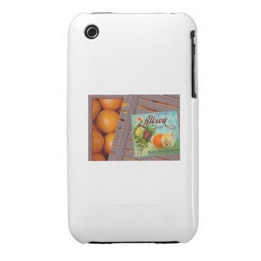 Albion Oranges Fruit Crate Label iPhone 3 Cases