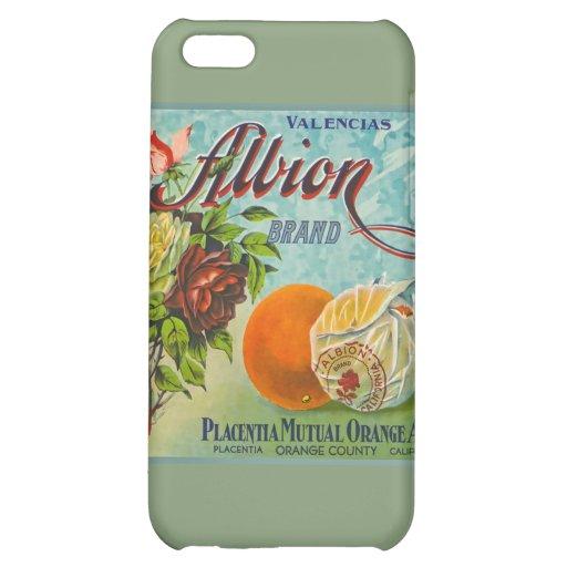 Albion Oranges Fruit Crate Label iPhone 5C Cases
