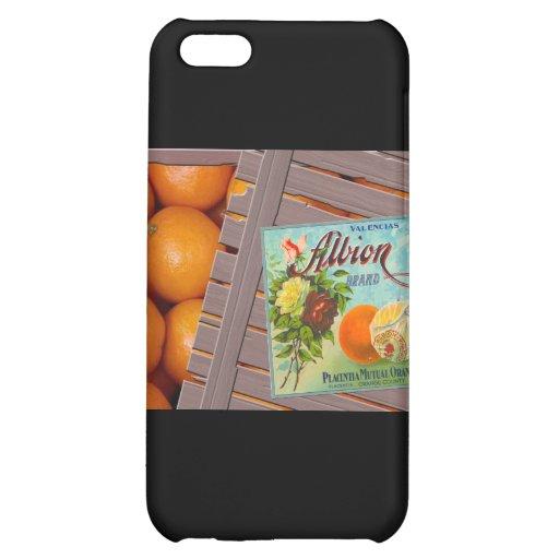 Albion Oranges Fruit Crate Label iPhone 5C Case