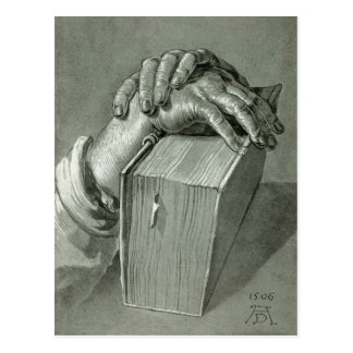 Albrecht Dürer Hand Study with Bible Postcard