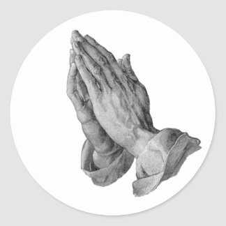 Albrecht Durer - Hands Praying Classic Round Sticker
