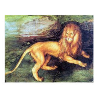 Albrecht Durer - Lion Postcard