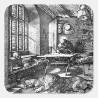 Albrecht Durer Sketch Square Stickers