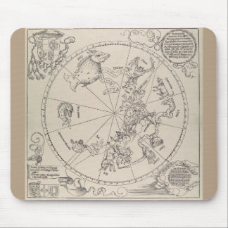 "Albrecht Durer - ""The Celestial Map - South"" Mouse Pad"