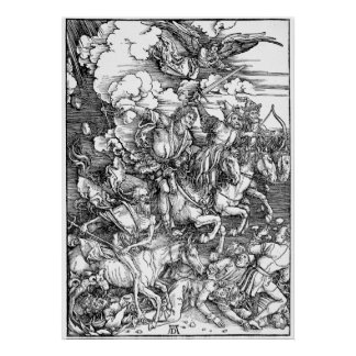 Albrecht Durer The Four Horsemen of the Apocalypse Poster