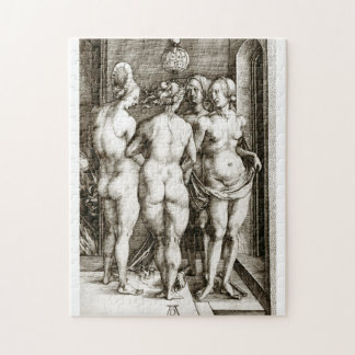 Albrecht Durer -The Four Witches Jigsaw Puzzle