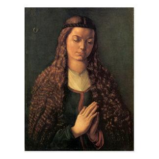 Albrecht Durer - Woman with curly hair Postcard
