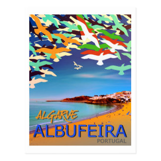 Albufeira Algarve Portugal postcard