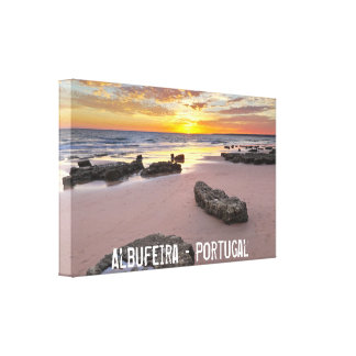 Albufeira - Portugal. Summer vacations in Algarve Canvas Print