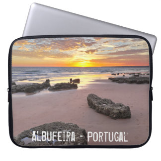 Albufeira - Portugal. Summer vacations in Algarve Laptop Sleeve