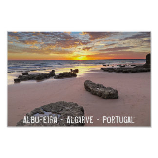 Albufeira - Portugal. Summer vacations in Algarve Poster