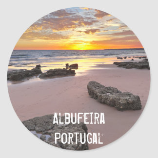Albufeira - Portugal. Summer vacations in Algarve Round Sticker