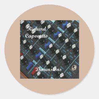 Album cover for the album Dimensions Round Sticker