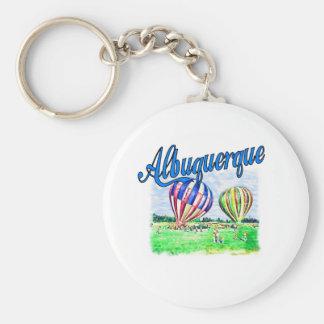 Albuquerque Balloons Basic Round Button Key Ring