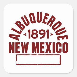 Albuquerque Inc Square Sticker
