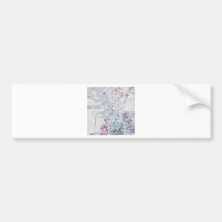 Albuquerque map painting bumper sticker