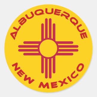 Albuquerque, New Mexico Classic Round Sticker