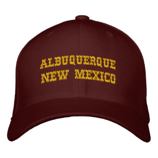 ALBUQUERQUE, NEW MEXICO EMBROIDERED BASEBALL CAPS