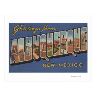 Albuquerque, New Mexico - Large Letter Scenes Postcard