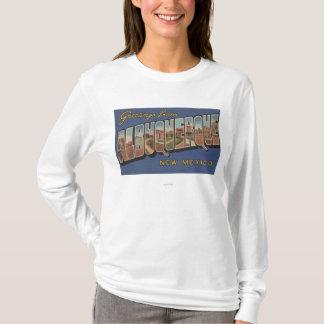 Albuquerque, New Mexico - Large Letter Scenes T-Shirt