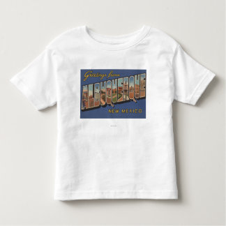 Albuquerque, New Mexico - Large Letter Scenes Toddler T-Shirt