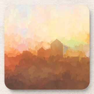Albuquerque New Mexico Skyline IN CLOUDS Drink Coasters