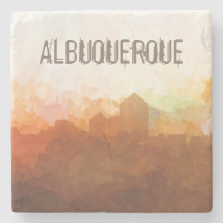 Albuquerque New Mexico Skyline IN CLOUDS Stone Beverage Coaster