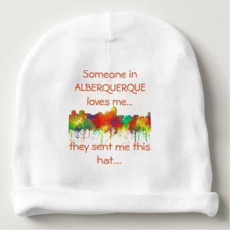Albuquerque New Mexico Skyline-SG Baby Beanie