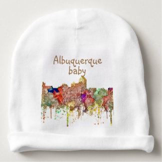 Albuquerque New Mexico Skyline SG Faded Glory Baby Beanie
