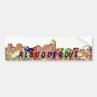 Albuquerque New Mexico Skyline SG Faded Glory Bumper Sticker