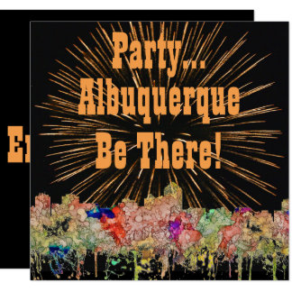Albuquerque New Mexico Skyline SG Faded Glory Card