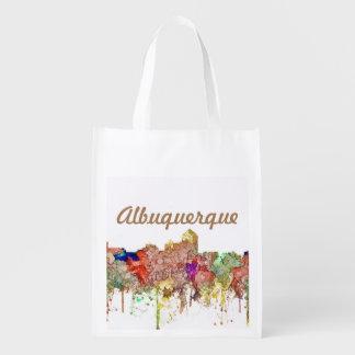 Albuquerque New Mexico Skyline SG Faded Glory Reusable Grocery Bag
