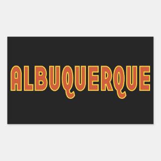 Albuquerque New Mexico typographic design Rectangular Sticker