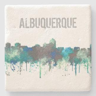 ALBUQUERQUE, NM SKYLINE -SG JUNGLE -Stone Coasters Stone Beverage Coaster