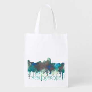 ALBUQUERQUE, NM SKYLINE - SG JUNGLE - Tote Bag