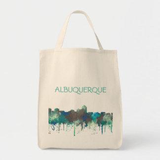 ALBUQUERQUE, NM SKYLINE - SG JUNGLE - Tote Bag