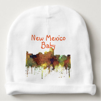 Albuquerque, NM Skyline - SG - Safari Buff Baby Beanie