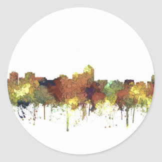 Albuquerque, NM Skyline - SG - Safari Buff Round Sticker